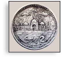 Two Rupees Pakistani Coin Canvas Print