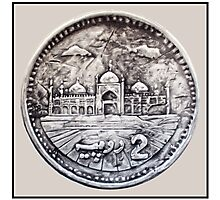 Two Rupees Pakistani Coin Photographic Print