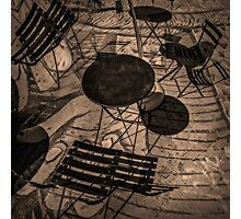 chairs and tables Photographic Print