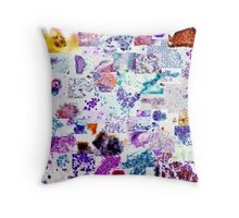 Psychedelic Cytology Throw Pillow