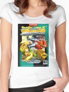 Street Fighter II Sega Cartridge Women's Fitted Scoop T-Shirt