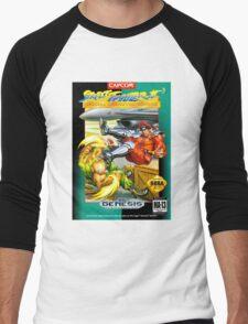 Street Fighter II Sega Cartridge Men's Baseball ¾ T-Shirt