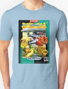 Street Fighter II Sega Cartridge Unisex T-Shirt