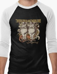Tweedledum & Tweedledee Carnivale Style - Gold Version Men's Baseball ¾ T-Shirt