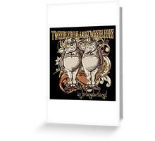 Tweedledum & Tweedledee Carnivale Style - Gold Version Greeting Card