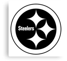 PITTSBURGH STEELERS BLACK AND WHITE Canvas Print