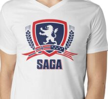 SAGA Official Merchandise  Mens V-Neck T-Shirt