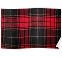 Red & Black Flannel Poster