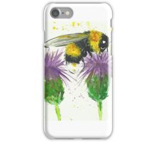 Bumble bee sitting a two thistles iPhone Case/Skin