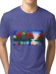 Rippled Sunset Tri-blend T-Shirt