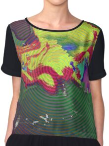 Strange Weather Pattern Chiffon Top