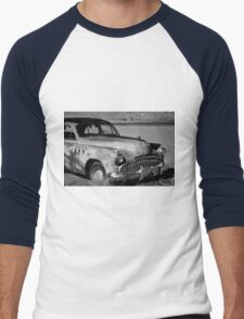 1949 Buick Eight Super I BW Men's Baseball ¾ T-Shirt