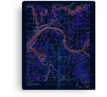 USGS TOPO Map Alabama AL Triana 305232 1936 24000 Inverted Canvas Print