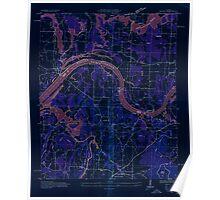 USGS TOPO Map Alabama AL Triana 305232 1936 24000 Inverted Poster