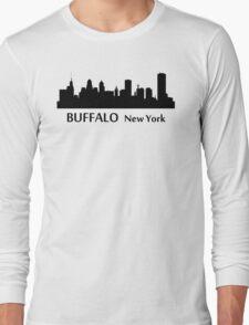 Buffalo Cityscape Skyline Long Sleeve T-Shirt