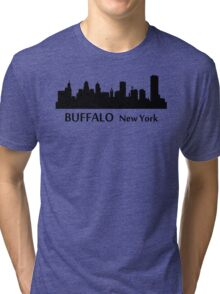 Buffalo Cityscape Skyline Tri-blend T-Shirt