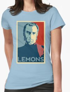 Portal 2 Cave Johnson LEMONS (hope parody) Womens Fitted T-Shirt