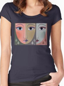 FACES #10 Women's Fitted Scoop T-Shirt
