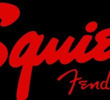 squier fender logo black red  Sticker