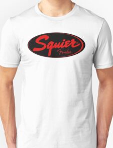 squier fender logo black red  T-Shirt