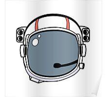 Astronaut Helmet Poster