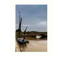 Sail boat at Snape Maltings Art Print