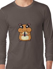 Cartoon Hamster Long Sleeve T-Shirt
