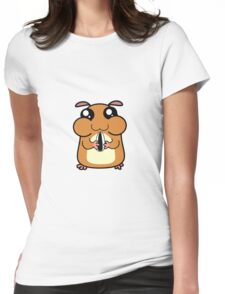 Cartoon Hamster Womens Fitted T-Shirt
