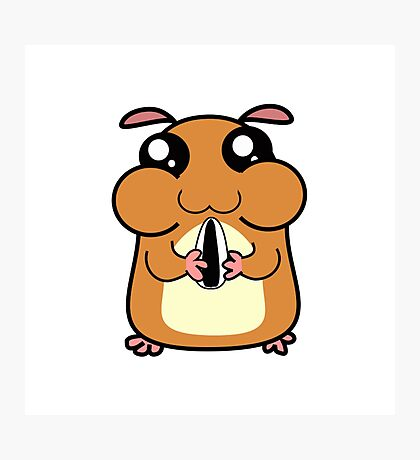 Cartoon Hamster Photographic Print
