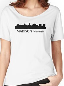 Madison Cityscape Skyline Women's Relaxed Fit T-Shirt