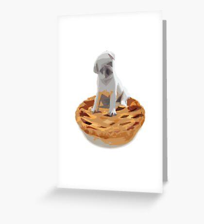 Pug pIe Greeting Card