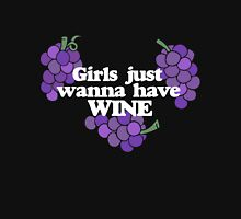 Girls just want to have wine Womens Fitted T-Shirt