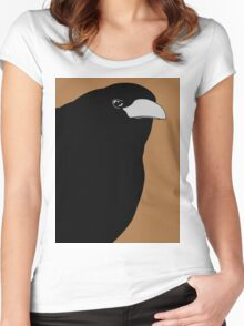 THE OLD CROW #3 Women's Fitted Scoop T-Shirt