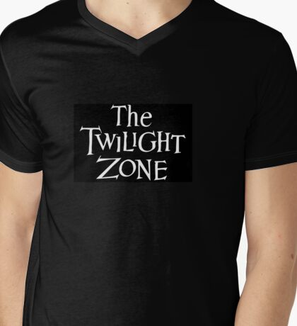 The Twilight Zone logo Mens V-Neck T-Shirt