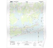 USGS TOPO Map Alabama AL Orange Beach 20110930 TM Poster