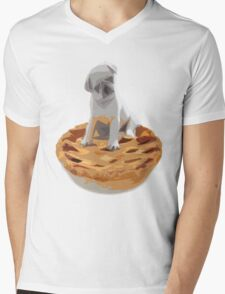 Pug pIe Mens V-Neck T-Shirt