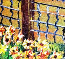 De-Fence of Flowers............. Sticker