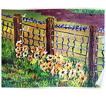 De-Fence of Flowers............. Poster