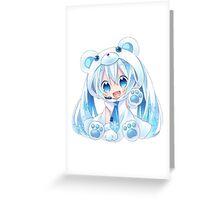 Kawaii miku chibi Greeting Card