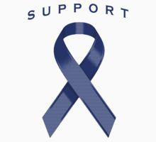 Blue Awareness Ribbon of Support Kids Clothes