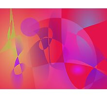 Abstract Red Photographic Print
