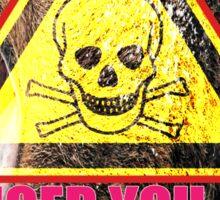 Warning PMS Zone Ahead Sticker
