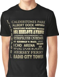 Liverpool Famous Landmarks Graphic T-Shirt
