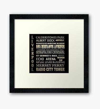 Liverpool Famous Landmarks Framed Print