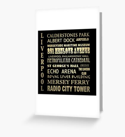 Liverpool Famous Landmarks Greeting Card