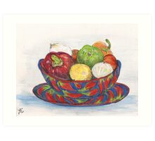 In My Mexican Kitchen #1 Art Print
