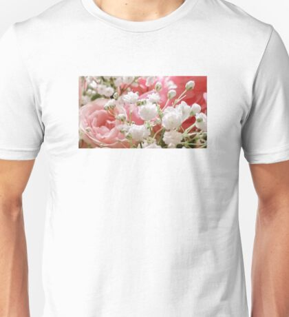 Roses and Babies Breath Unisex T-Shirt