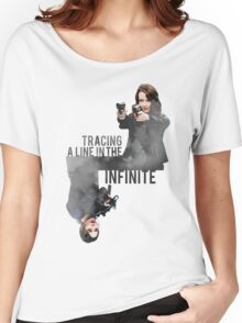 Tracing A Line In The Infinite (Person of Interest) Women's Relaxed Fit T-Shirt