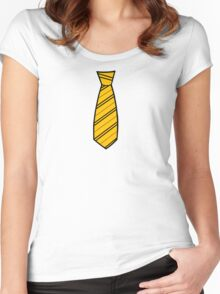 Badger House Tie  Women's Fitted Scoop T-Shirt