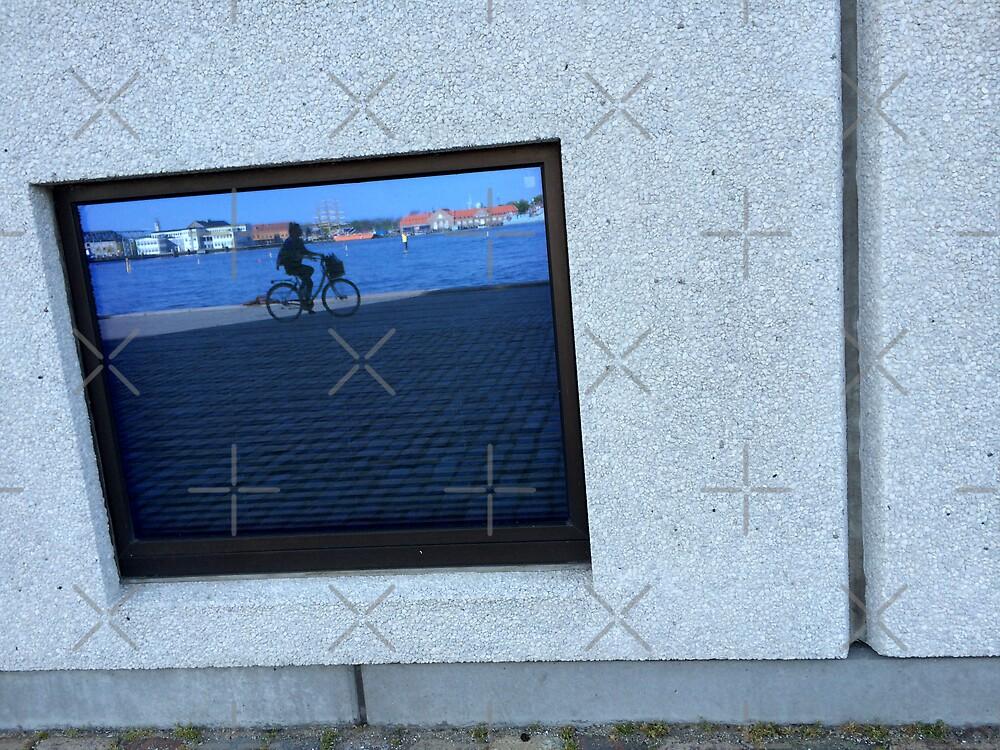 Biking in the blue sky by HeklaHekla